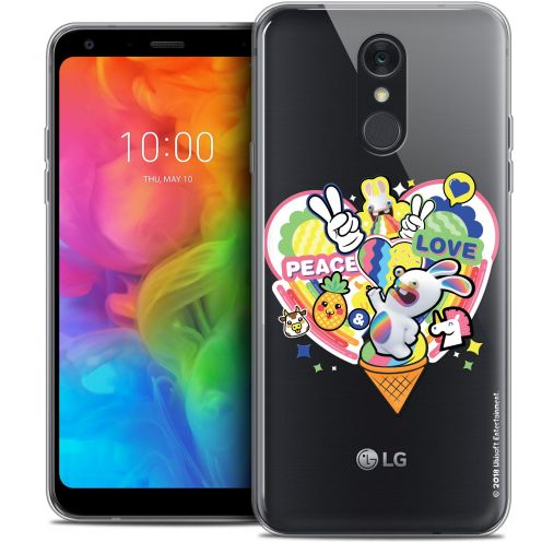 """Coque Gel LG Q7 (5.5"""") Extra Fine Lapins Crétins™ - Peace And Love"""
