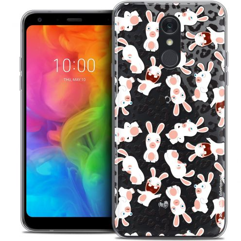 "Coque Gel LG Q7 (5.5"") Extra Fine Lapins Crétins™ - Leopard Pattern"