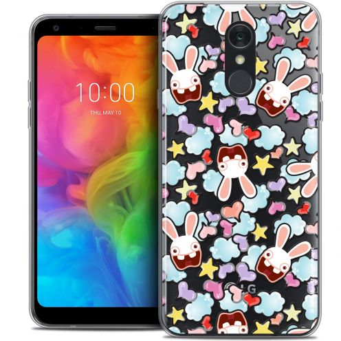 "Coque Gel LG Q7 (5.5"") Extra Fine Lapins Crétins™ - Love Pattern"
