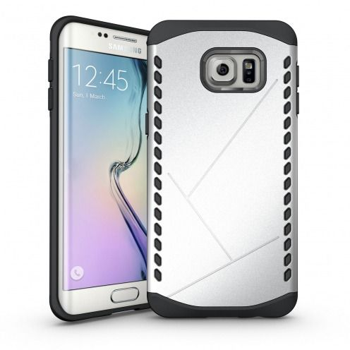 Photo réelle de Coque Galaxy S6 Edge+ / Plus Antichoc Intégrale - Slim Shield Defender - Argent