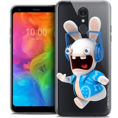 """Coque Gel LG Q7 (5.5"""") Extra Fine Lapins Crétins™ - Techno Lapin"""