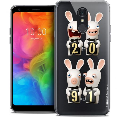 "Coque Gel LG Q7 (5.5"") Extra Fine Lapins Crétins™ - New Year"
