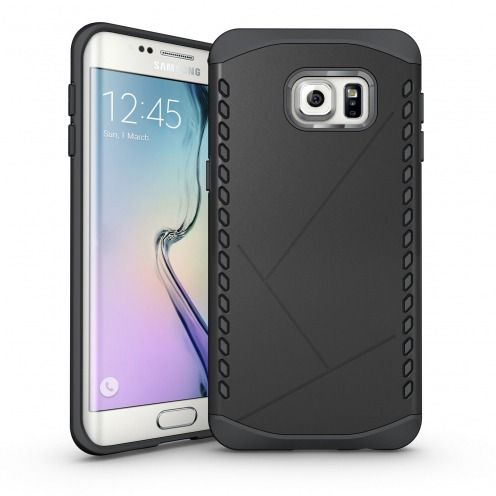 Photo réelle de Coque Galaxy S6 Edge+ / Plus Antichoc Intégrale - Slim Shield Defender - Noir