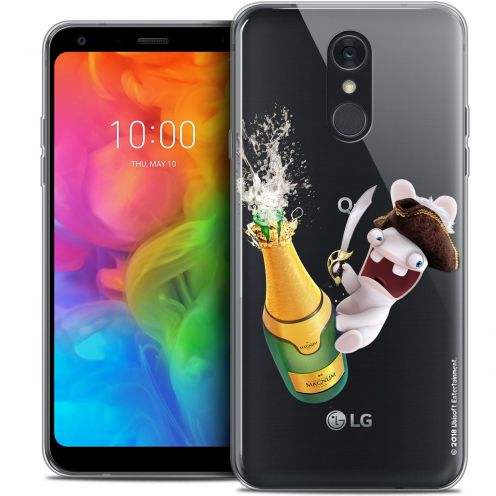 """Coque Gel LG Q7 (5.5"""") Extra Fine Lapins Crétins™ - Champagne !"""
