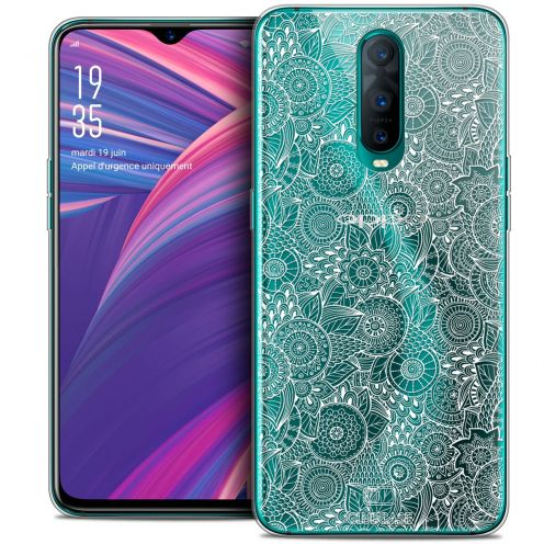 "Coque Crystal Gel Oppo RX17 Pro (6.4"") Extra Fine Dentelle Florale - Blanc"