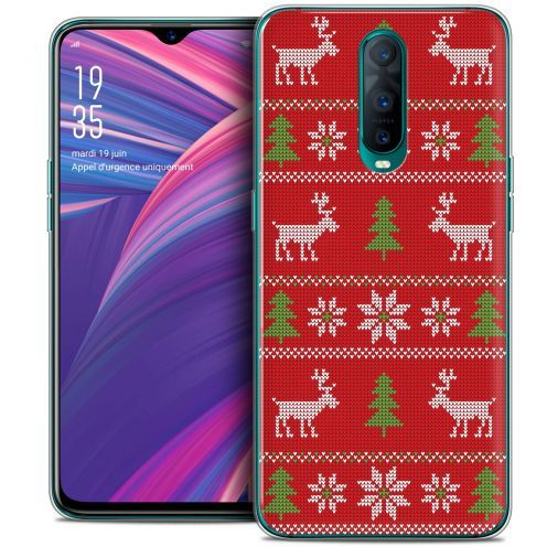 """Coque Crystal Gel Oppo RX17 Pro (6.4"""") Extra Fine Noël 2017 - Couture Rouge"""