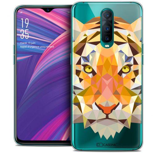 "Coque Crystal Gel Oppo RX17 Pro (6.4"") Extra Fine Polygon Animals - Tigre"