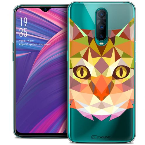 "Coque Crystal Gel Oppo RX17 Pro (6.4"") Extra Fine Polygon Animals - Chat"