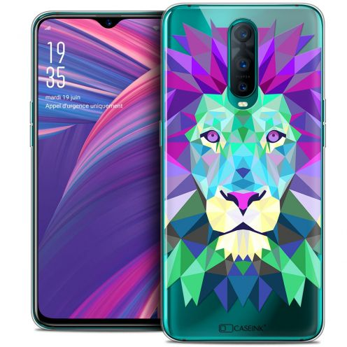 "Coque Crystal Gel Oppo RX17 Pro (6.4"") Extra Fine Polygon Animals - Lion"