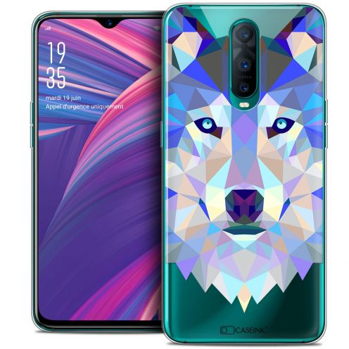 "Coque Crystal Gel Oppo RX17 Pro (6.4"") Extra Fine Polygon Animals - Loup"