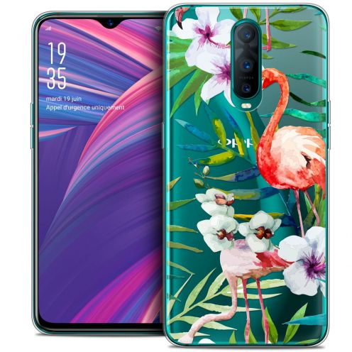 "Coque Crystal Gel Oppo RX17 Pro (6.4"") Extra Fine Watercolor - Tropical Flamingo"