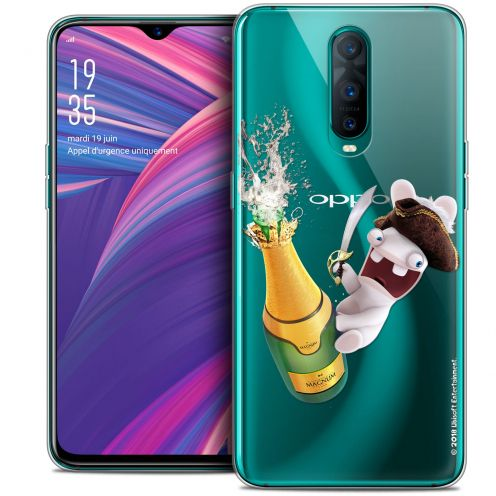 """Coque Gel Oppo RX17 Pro (6.4"""") Extra Fine Lapins Crétins™ - Champagne !"""