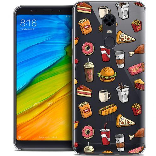 "Coque Crystal Gel Xiaomi Redmi 5 Plus (6"") Extra Fine Foodie - Fast Food"
