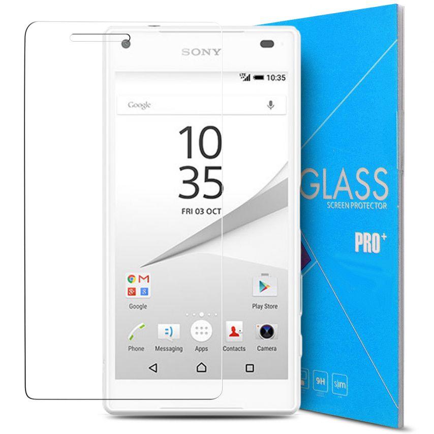 Vue détaillée de Protection d'écran Verre trempé Sony Xperia Z5 Compact - 9H Glass Pro+ HD 0.33 mm 2.5D