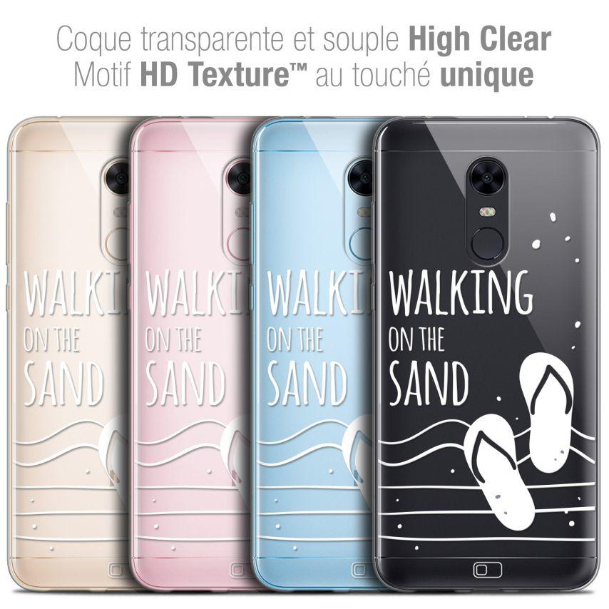 "Coque Crystal Gel Xiaomi Redmi 5 Plus (6"") Extra Fine Summer - Walking on the Sand"