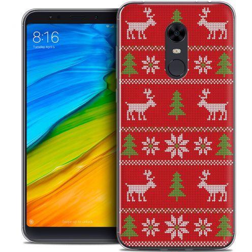 "Coque Crystal Gel Xiaomi Redmi 5 Plus (6"") Extra Fine Noël 2017 - Couture Rouge"