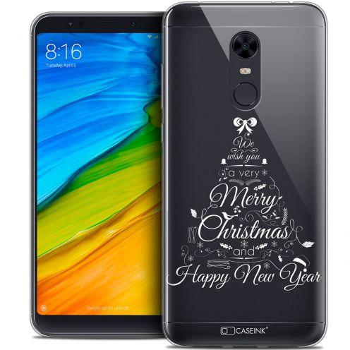 "Coque Crystal Gel Xiaomi Redmi 5 Plus (6"") Extra Fine Noël 2017 - Calligraphie"