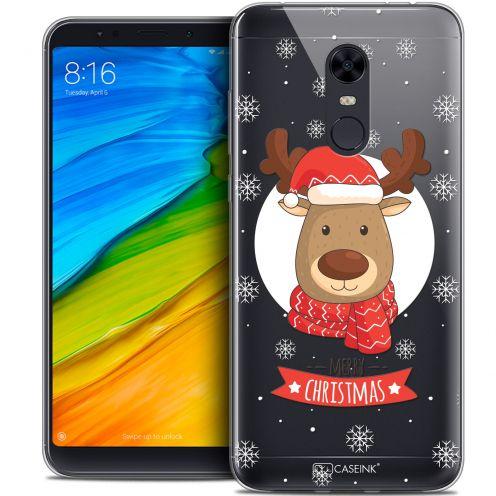 """Coque Crystal Gel Xiaomi Redmi 5 Plus (6"""") Extra Fine Noël 2017 - Cerf à Echarpe"""