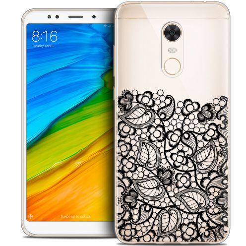 "Coque Crystal Gel Xiaomi Redmi 5 Plus (6"") Extra Fine Spring - Bas dentelle Noir"