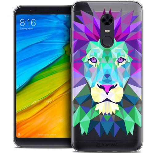 "Coque Crystal Gel Xiaomi Redmi 5 Plus (6"") Extra Fine Polygon Animals - Lion"