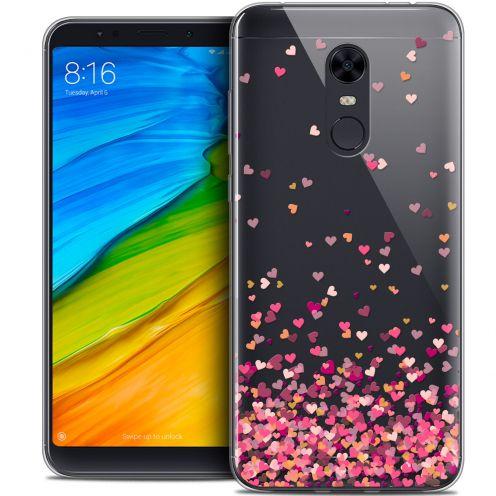 "Coque Crystal Gel Xiaomi Redmi 5 Plus (6"") Extra Fine Sweetie - Heart Flakes"