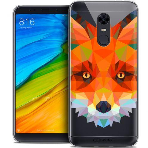 """Coque Crystal Gel Xiaomi Redmi 5 Plus (6"""") Extra Fine Polygon Animals - Renard"""