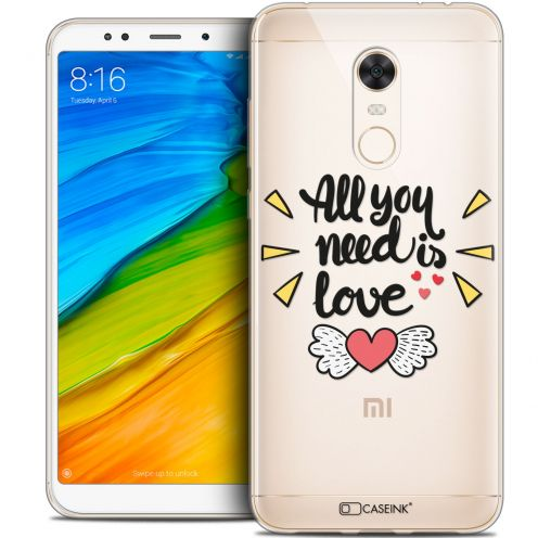 "Coque Crystal Gel Xiaomi Redmi 5 Plus (6"") Extra Fine Love - All U Need Is"