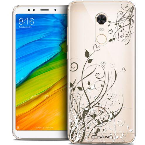 "Coque Crystal Gel Xiaomi Redmi 5 Plus (6"") Extra Fine Love - Hearts Flowers"