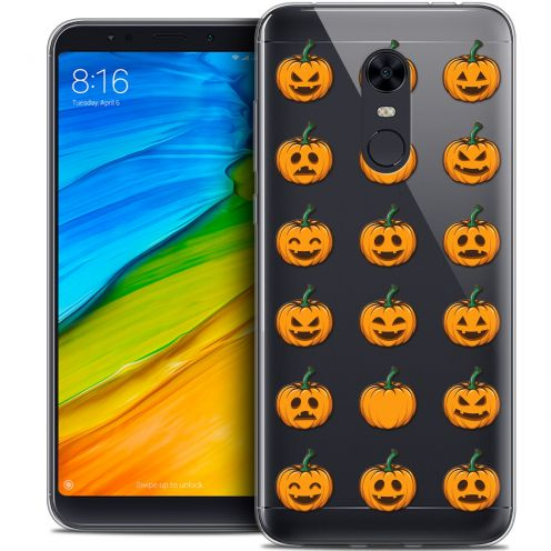 "Coque Crystal Gel Xiaomi Redmi 5 Plus (6"") Extra Fine Halloween - Smiley Citrouille"