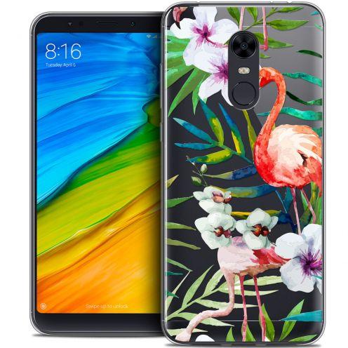 """Coque Crystal Gel Xiaomi Redmi 5 Plus (6"""") Extra Fine Watercolor - Tropical Flamingo"""