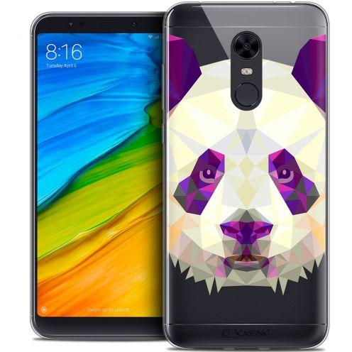 """Coque Crystal Gel Xiaomi Redmi 5 Plus (6"""") Extra Fine Polygon Animals - Panda"""