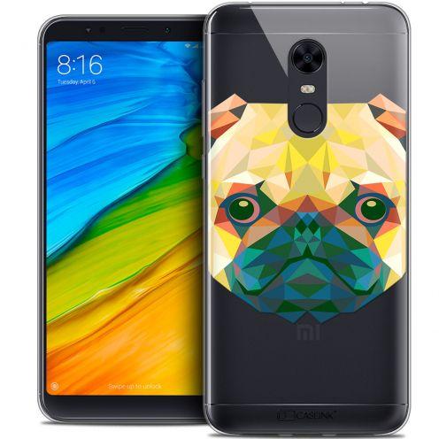 """Coque Crystal Gel Xiaomi Redmi 5 Plus (6"""") Extra Fine Polygon Animals - Chien"""