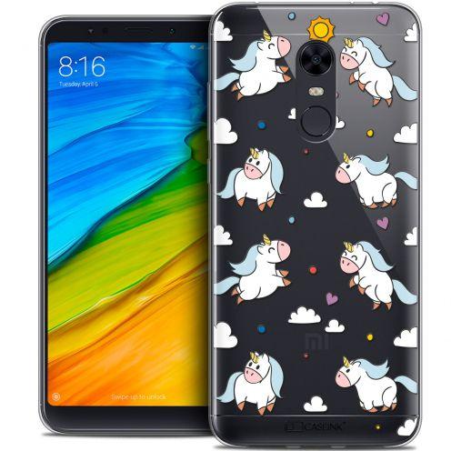 "Coque Crystal Gel Xiaomi Redmi 5 Plus (6"") Extra Fine Fantasia - Licorne In the Sky"