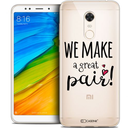 "Coque Crystal Gel Xiaomi Redmi 5 Plus (6"") Extra Fine Love - We Make Great Pair"