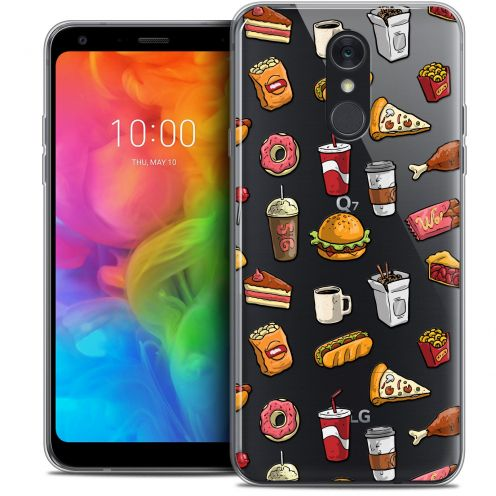 "Coque Crystal Gel LG Q7 (5.5"") Extra Fine Foodie - Fast Food"