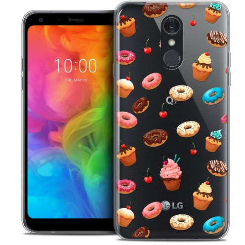 """Coque Crystal Gel LG Q7 (5.5"""") Extra Fine Foodie - Donuts"""