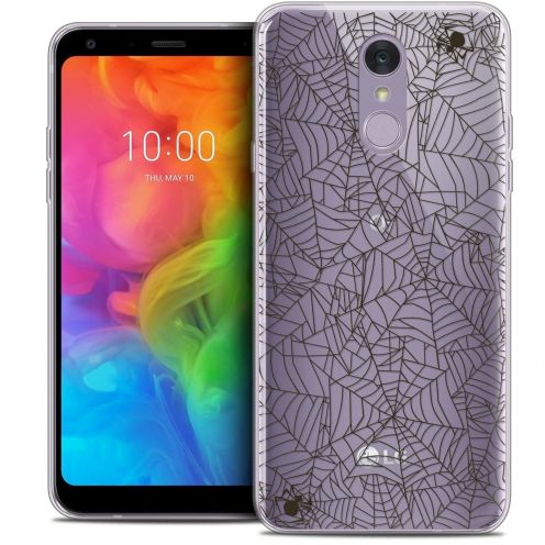 "Coque Crystal Gel LG Q7 (5.5"") Extra Fine Halloween - Spooky Spider"