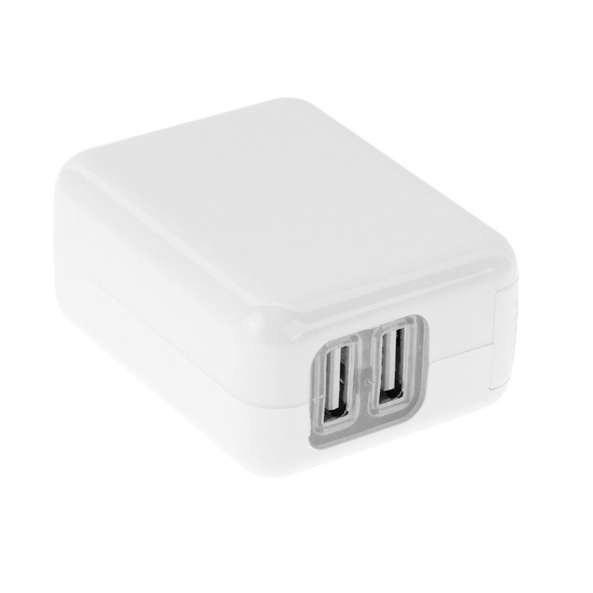 Zoom sur Chargeur Voyage 2x USB Haweel® 2x2.1A World Travel Charge - EU, UK, US, AU
