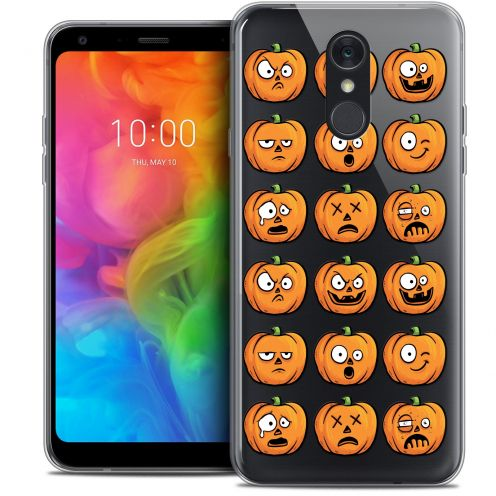 "Coque Crystal Gel LG Q7 (5.5"") Extra Fine Halloween - Cartoon Citrouille"