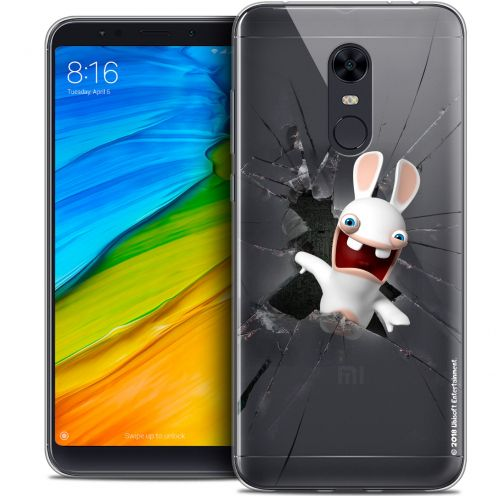 "Coque Gel Xiaomi Redmi 5 Plus (6"") Extra Fine Lapins Crétins™ - Breaking Glass"