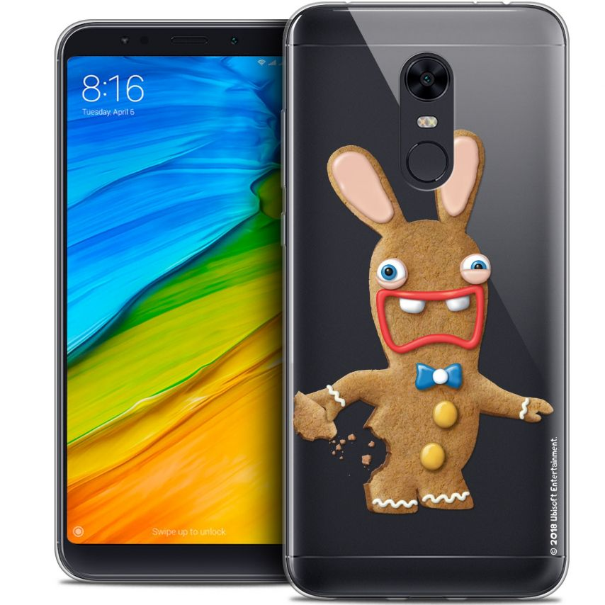 "Coque Gel Xiaomi Redmi 5 Plus (6"") Extra Fine Lapins Crétins™ - Cookie"