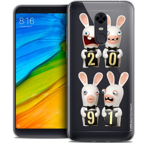 "Coque Gel Xiaomi Redmi 5 Plus (6"") Extra Fine Lapins Crétins™ - New Year"