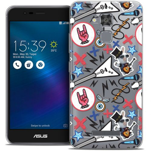 "Coque Gel Asus Zenfone 3 Max ZC520TL (5.2"") Extra Fine Lapins Crétins™ - Rock Pattern"