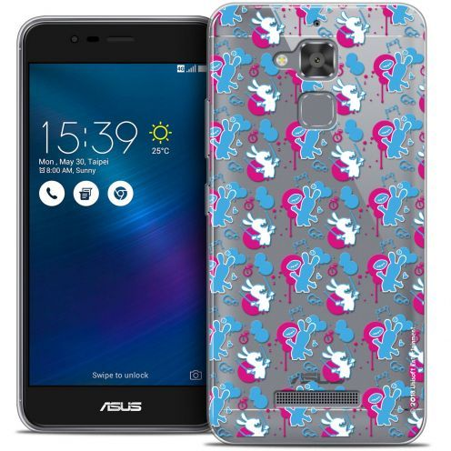 "Coque Gel Asus Zenfone 3 Max ZC520TL (5.2"") Extra Fine Lapins Crétins™ - Rugby Pattern"