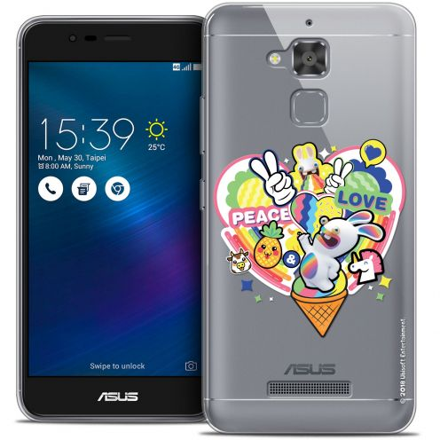"Coque Gel Asus Zenfone 3 Max ZC520TL (5.2"") Extra Fine Lapins Crétins™ - Peace And Love"