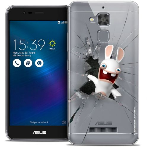 "Coque Gel Asus Zenfone 3 Max ZC520TL (5.2"") Extra Fine Lapins Crétins™ - Breaking Glass"
