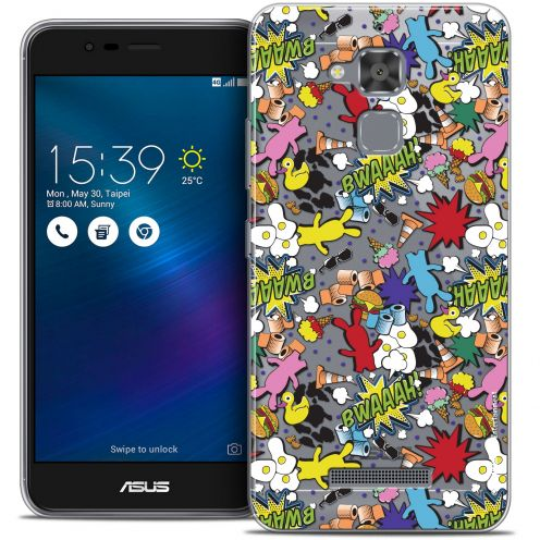 "Coque Gel Asus Zenfone 3 Max ZC520TL (5.2"") Extra Fine Lapins Crétins™ - Bwaaah Pattern"