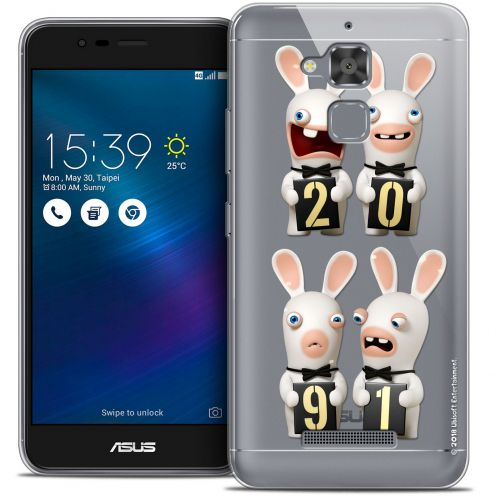 """Coque Gel Asus Zenfone 3 Max ZC520TL (5.2"""") Extra Fine Lapins Crétins™ - New Year"""