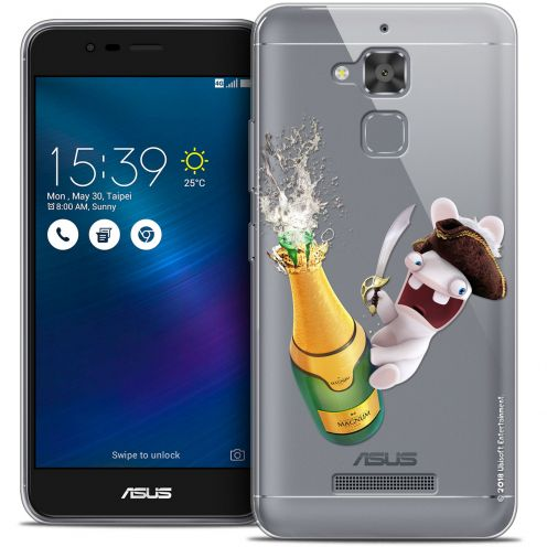 "Coque Gel Asus Zenfone 3 Max ZC520TL (5.2"") Extra Fine Lapins Crétins™ - Champagne !"