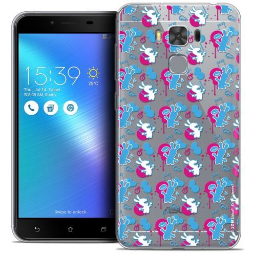 """Coque Gel Asus Zenfone 3 Max Plus ZC553KL (5.5"""") Extra Fine Lapins Crétins™ - Rugby Pattern"""